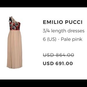 Midi formal dress Emilio Pucci. New w tags